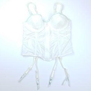 Pastel Bustier Rhinstone Lace w/ Garter Straps